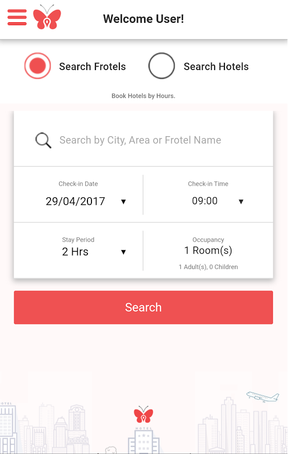 Frotels - Book Hotels By Hours- screenshot