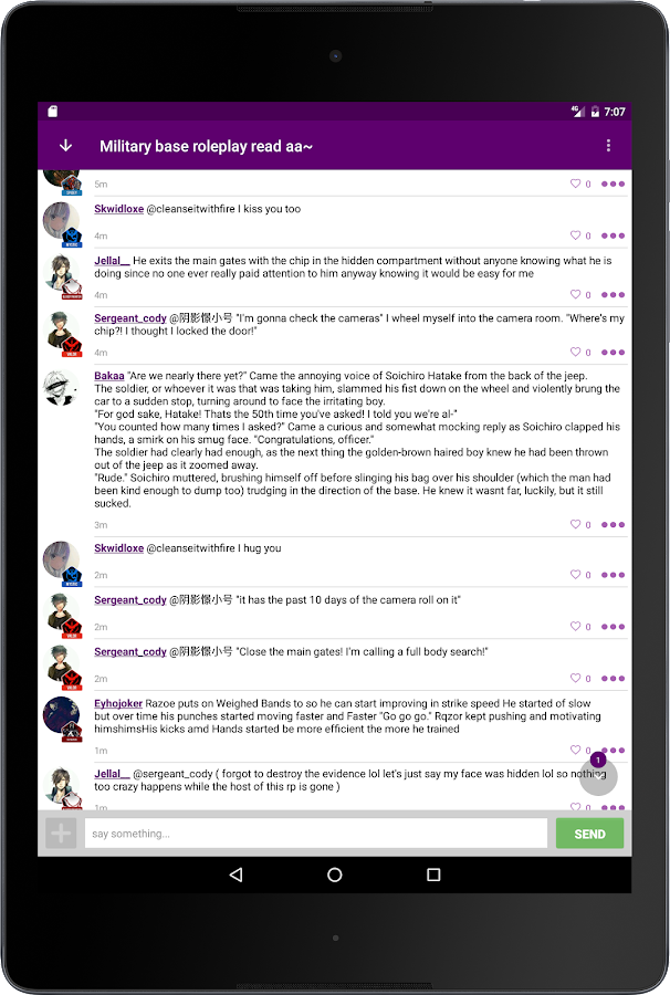 roleplay chat app design