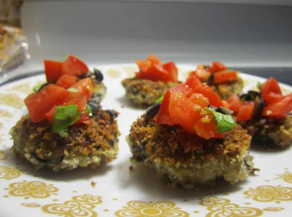 Eggplant Pulpette With Tomato Basil Salad. Recipe