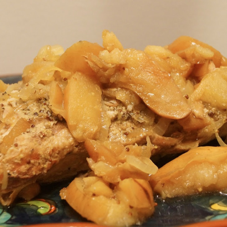 Low Carb Slow Cooker Pork Tenderloin and Apples