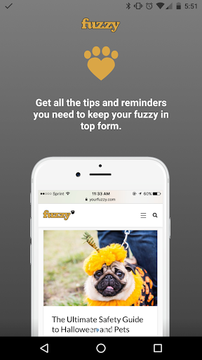Fuzzy Pet Health Screenshot