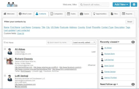 Clevertim CRM Screenshot