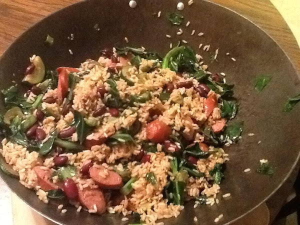 Cajun Greens And Beans With Sausage Recipe