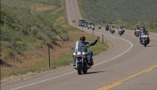 La route 66 sur Harley Davidson