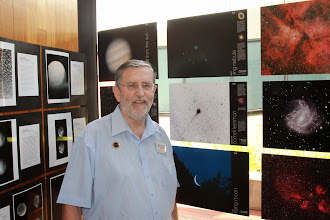 Photo: I was very proud to have several of my images selected for display at the Macarthur Astronomical Society Photographic Exhibition, Magnitude III, at the University of Western Sydney today.  That's three of my modest attempts at astrophotography, The Ring Nebula (M57) (top), Comet Lemmon (centre) and the setting crescent Moon (bottom).  Thanks for taking the shot on my camera, Rob Moscrop. Thanks for selecting them, +Chris Malikoff