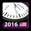 2016 US Holiday Calendar NoAds