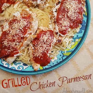 #AD Grilled Chicken Parmesan