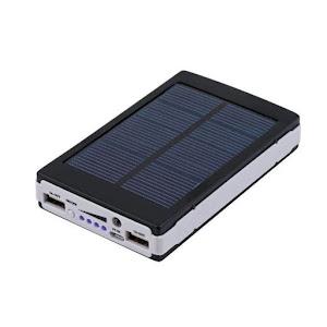 Baterie externa 20000 mAh - Incarcare solara + Lanterna