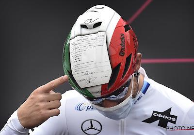 """Heerlijke humor! Europese kampioen tweede met verklaring op eer op zijn helm: """"Merlier reed een geweldige sprint"""""""