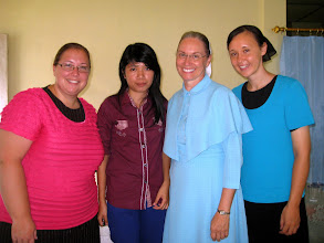 Photo: The pastors conference at Teluk Dalam also included a ladies conference. Each day as Merle & Raymond taught the Men, Rosa, Marian & Judy also taught a ladies conference in a separate room. There interpreter was sister Agustin.
