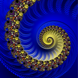 Blue and Yellow by Capucino Julio - Illustration Abstract & Patterns ( abstract, blue, yellow, fractal, design )