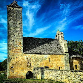 Chapel in Biron, France by Lori Louderback - Buildings & Architecture Decaying & Abandoned