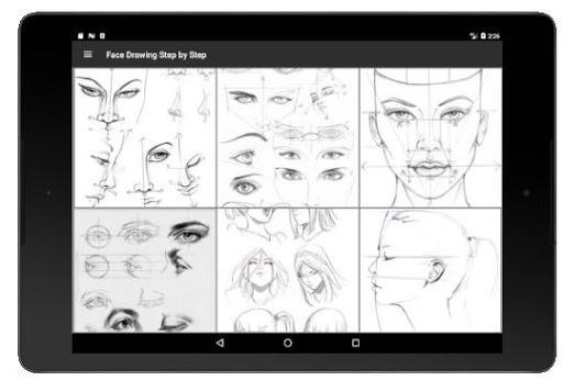 Face Drawing Step by Step 1.3.0 screenshots 6