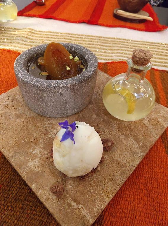 Dessert at Qespi Restaurant in Lima, Peru