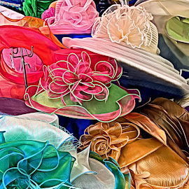 Easter Bonnets by Rosemary Gamburg - Uncategorized All Uncategorized ( #colors #pastels #bonnets #hats )
