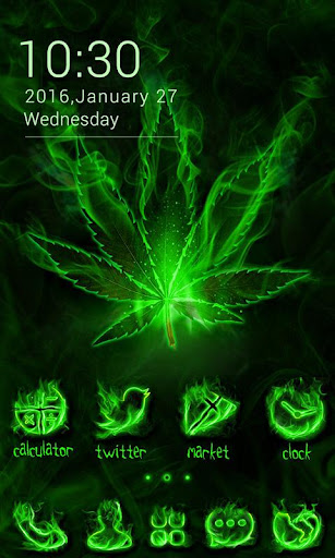 Weed Rasta GO Launcher Theme Screenshot