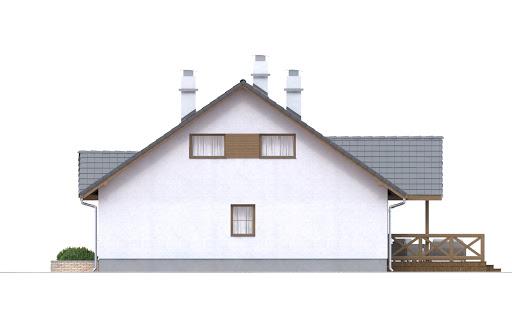 Groszek z garażem dach dwuspadowy opał stały - Elewacja prawa