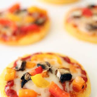 Mini Polenta Pizzas.
