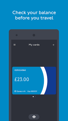 TfL Oyster and contactless screenshots 1