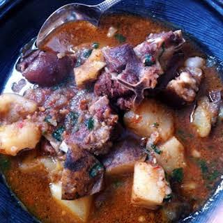 Nigerian Goat Meat Pepper Soup.