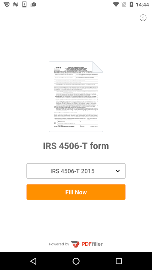 4506-T form- screenshot