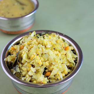 Cabbage Pesarapappu Podi Kura   Cabbage Moongdal Dry Curry