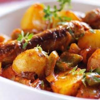 Sausage, Potato, Carrot Bake