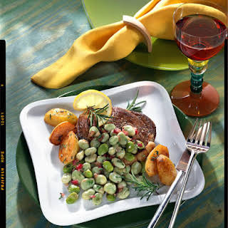 Lamb Chops With Fava Bean Salad.