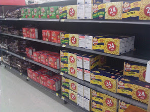 Photo: Can't miss the big boxes of popcorn on the back of the DVD aisle!