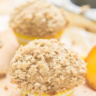 Peach Oatmeal Crumb Muffins