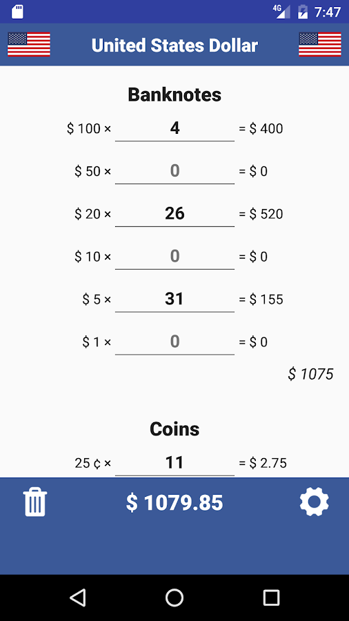 Cash Calculator -Money Counter- screenshot