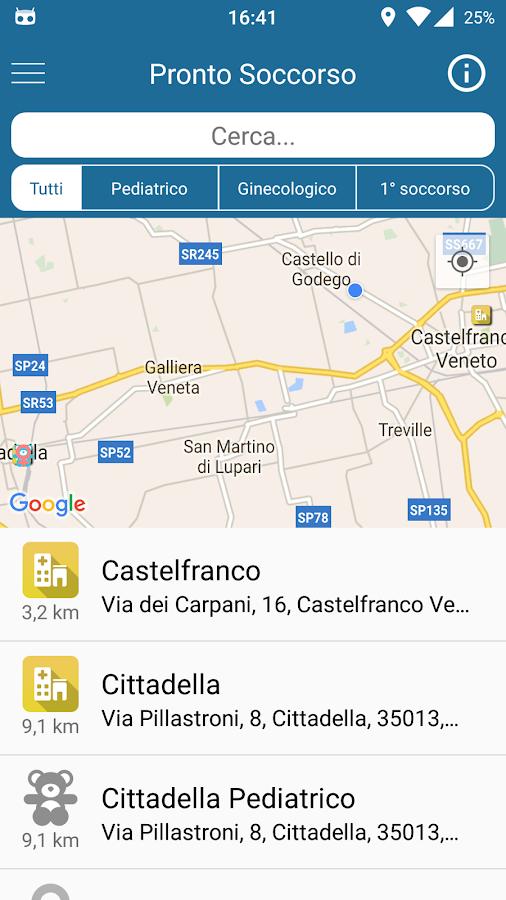 Info pronto soccorso- screenshot