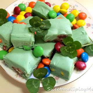 Shamrock Rainbow Mint Fudge
