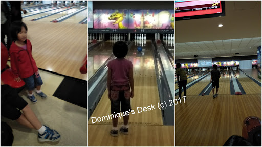 The kids at the Orchid bowling alley