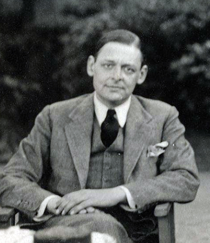 T S Eliot. Picture: WIKIPEDIA