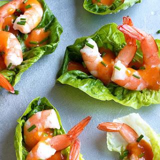 Shrimp Cocktail Lettuce Wraps.