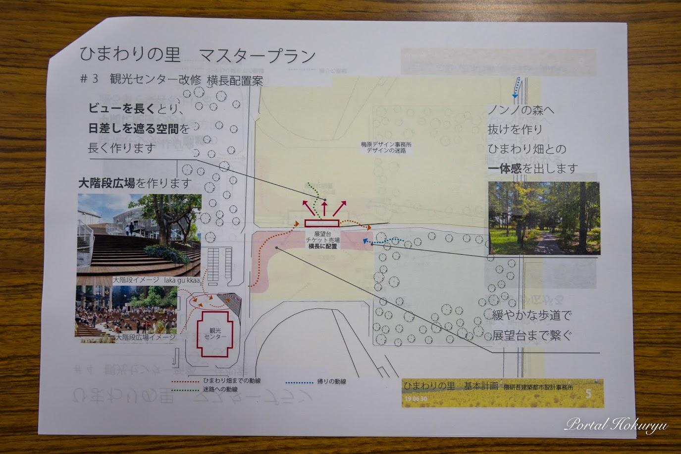 観光センター改修・横長配置案