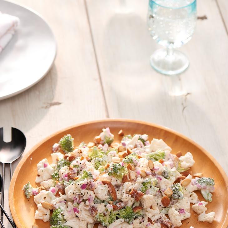"Broccoli and Cauliflower ""Coleslaw"" Recipe"