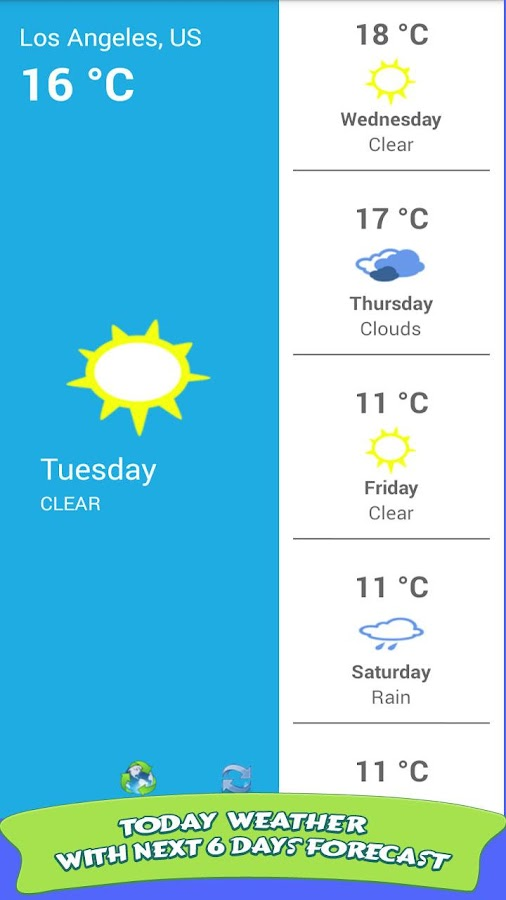 Weather Forecast 2017- screenshot