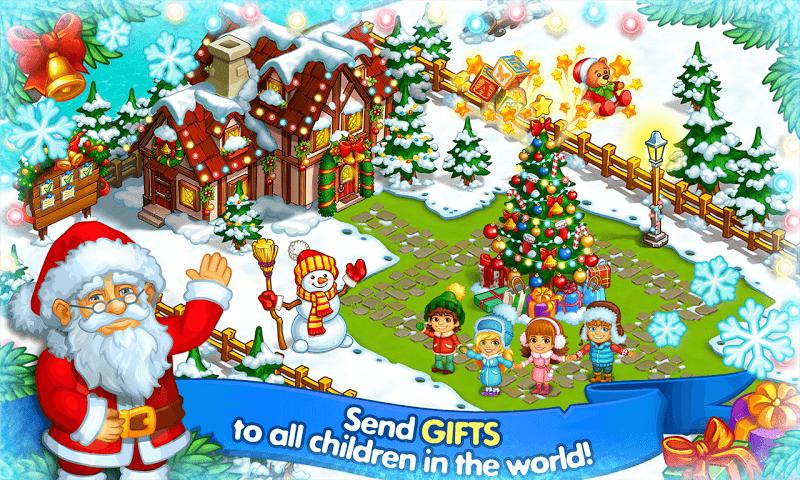Farm Snow: Happy Christmas Story With Toys & Santa Screenshot 5
