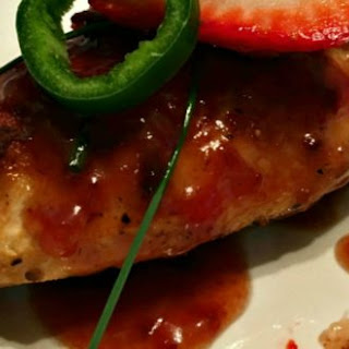 Strawberry Jalapeño Glazed Chicken