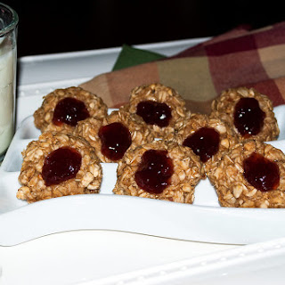 No Bake Peanut Butter and Jelly Cookies