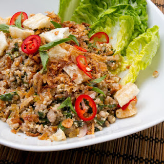 Pork Larb (Thai Salad with Pork, Herbs, Chili, and Toasted Rice Powder).