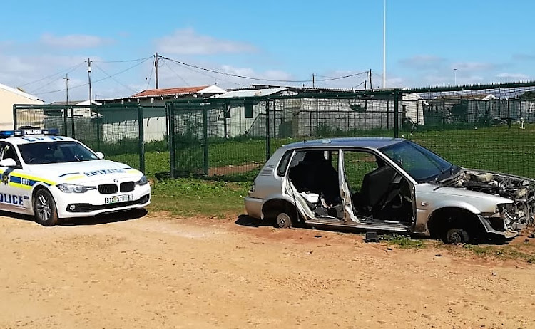 One of the hijacked cars was found stripped in New Brighton on Wednesday morning