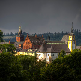 Hradec nad moravici by Michal Valenta - Digital Art Places ( castle, hradec )