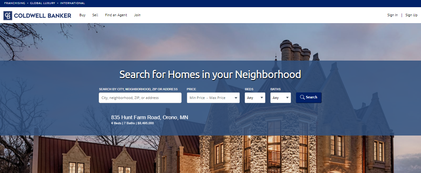Promotion website - Coldwell Banker