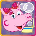 Pig Pepi dans salle de bain icon