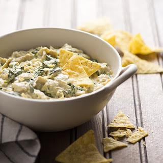 Warm Kale And Artichoke Dip.