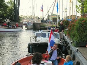 Photo: In de pas gerestaureerde Oude Sluis van Spaarndam.