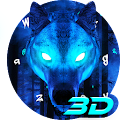 3D Live Ice Wolf Keyboard Theme APK